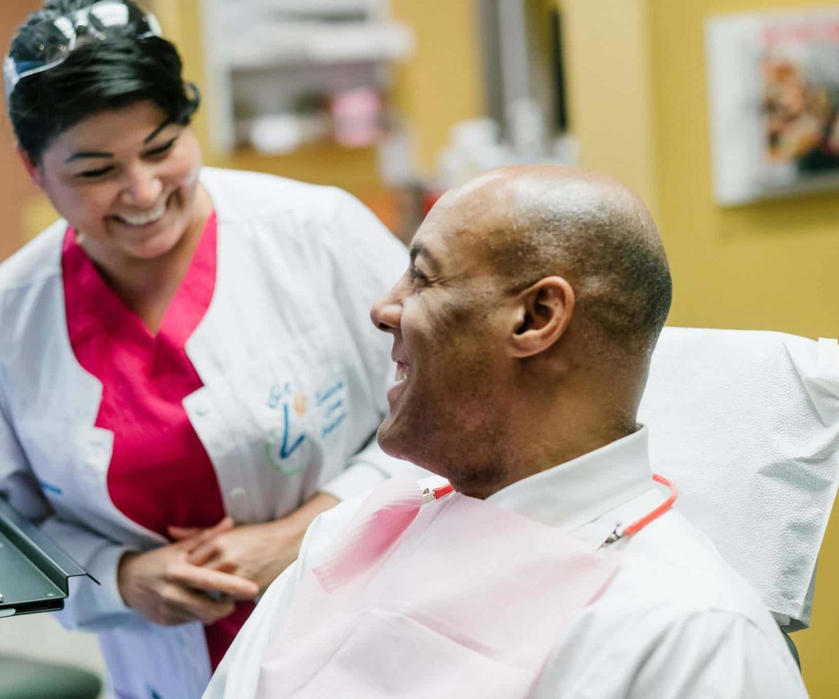 staff and patient Larson Orthodontics Alexandria VA smilesbylarson.com34 1200x1000 - Larson Orthodontics: Our New Website