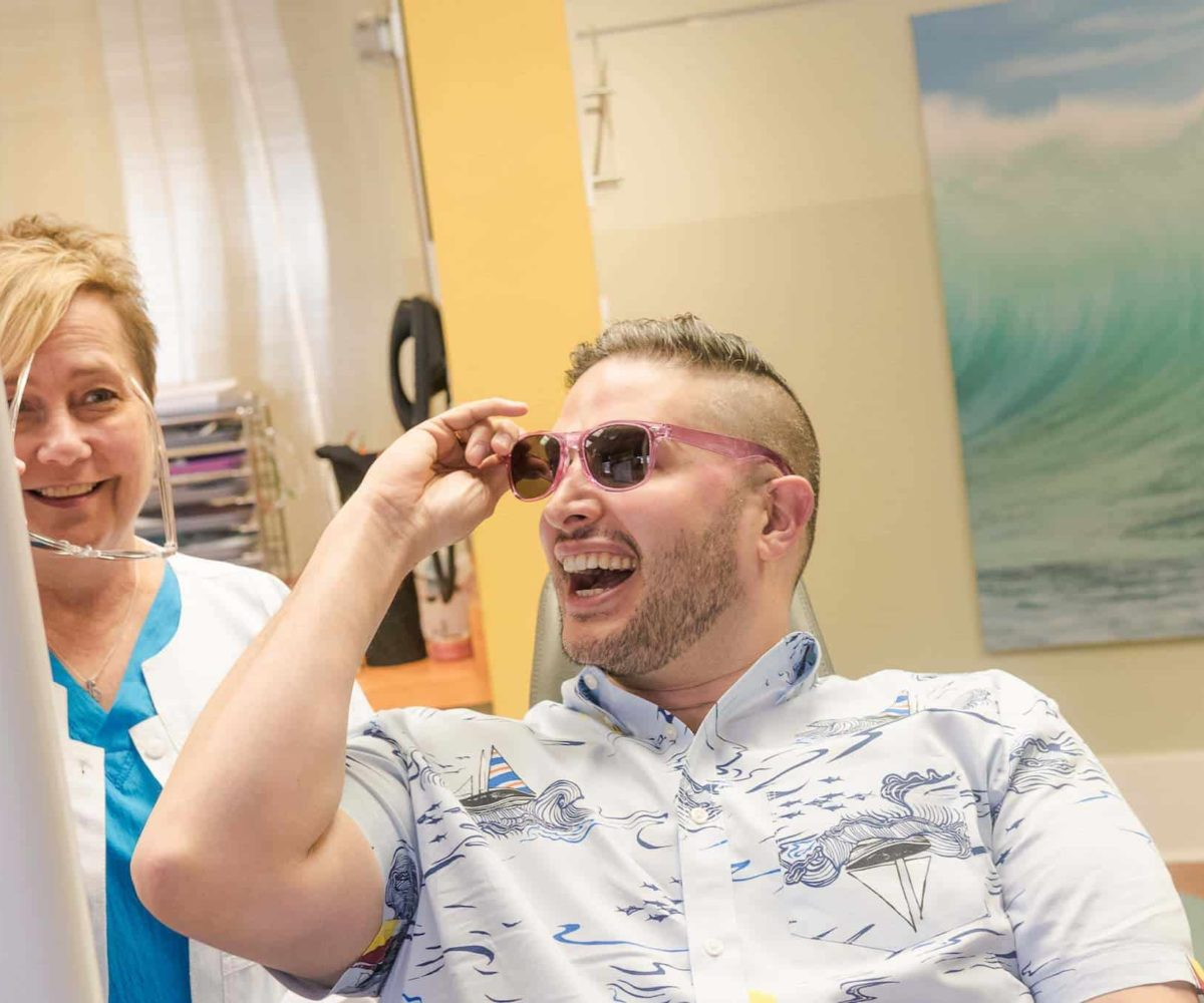 staff and patient Larson Orthodontics Alexandria VA smilesbylarson.com379 1200x1000 - Larson Orthodontics: Our New Website