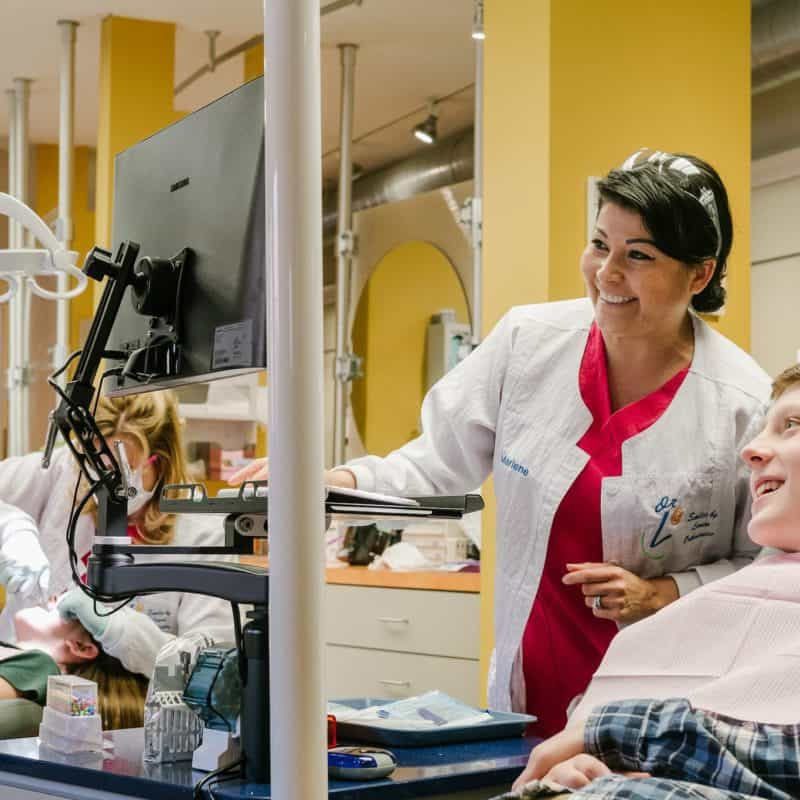 staff and patient Larson Orthodontics Alexandria VA smilesbylarson.com57 800x800 - See Our Smiles
