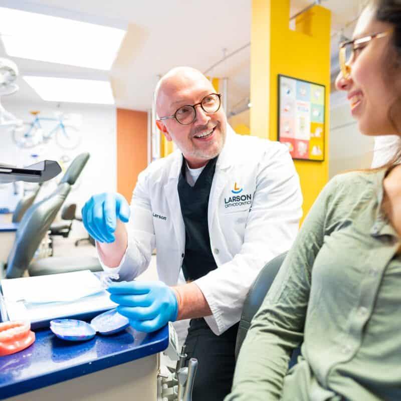 Doctor Candids Larson Orthodontics Alexandria Virginia 2021 37 800x800 - Braces & Invisalign
